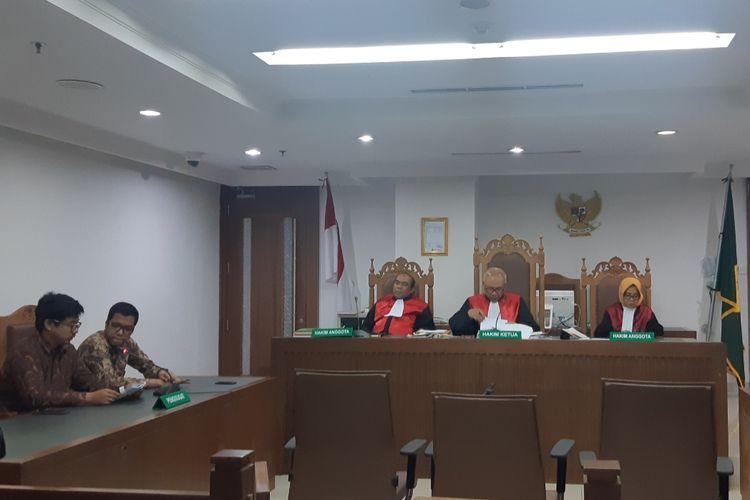 Sidang gugatan oleh Gerakan IBUKOTA terhadap tercrmarnya udara Jakarta di PN Jakarta Pusat, Jalan Bungur, Kamis (19/12/2019)