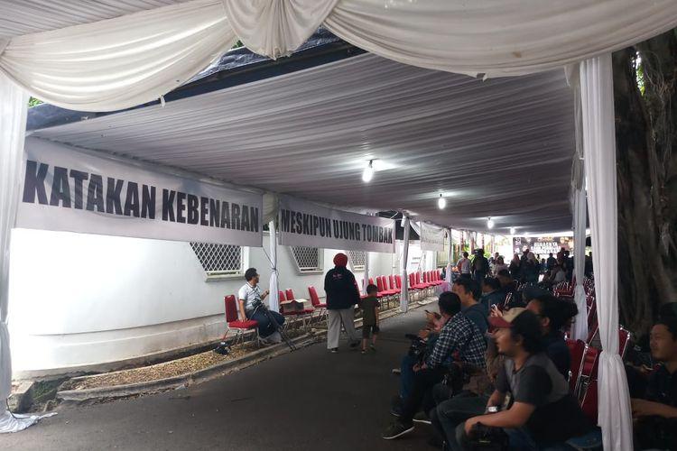 Suasana kediaman Ahmad Dhani di kawasan Pondok Indah, Jakarta Selatan, Senin (30/12/2019).
