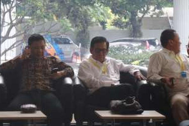 Politisi Partai Demokrat Jafar Hafsah di Gedung KPK Jakarta, Rabu (21/12/2016).