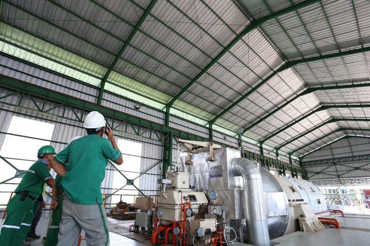 Pembangkit Listrik Energi Baru Terbarukan Biomassa (PLTBm) milik PT PT Rezeki Perkasa Sejahtera Lestari sebesar 10 Megawatt (MW).
