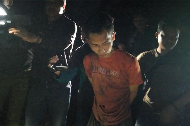 Terduga pelaku mutilasi di Banyumas, DP (37) ditangkap polisi, Kamis (11/7/2019) malam.