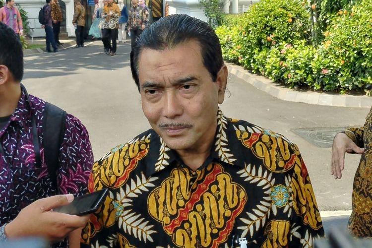 Direktur Utama BRI Suprajarto di Istana, Kamis (15/3/2018).