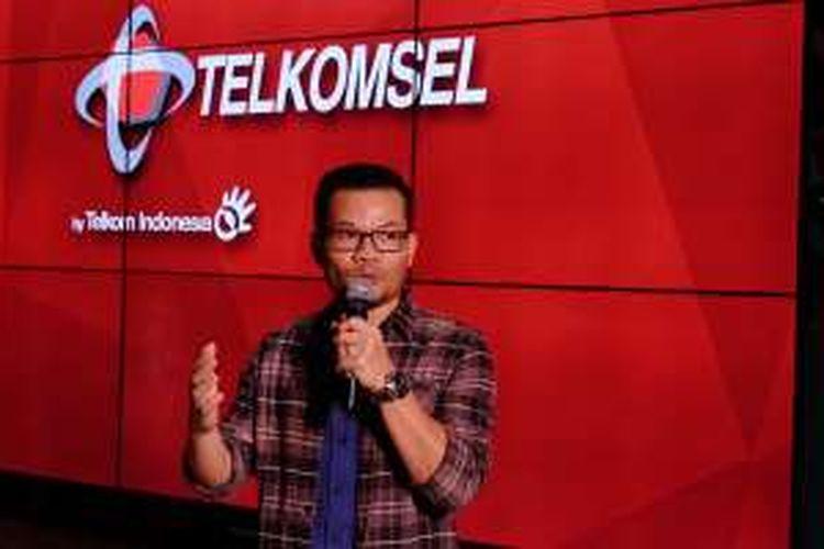 VP Marketing Communication Telkomsel, Nirwan Lesmana dalam peluncuran Loop Kepo 2016, Senin (4/4/2016).