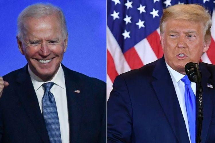Presiden Amerika Serikat (AS) Donald Trump (kanan) dan penantangnya dari Partai Demokrat, Joe Biden.