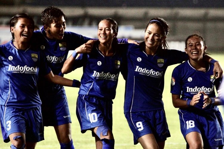 Para Pemain Persib Bandung putri di Liga 1 Putrri 2019.