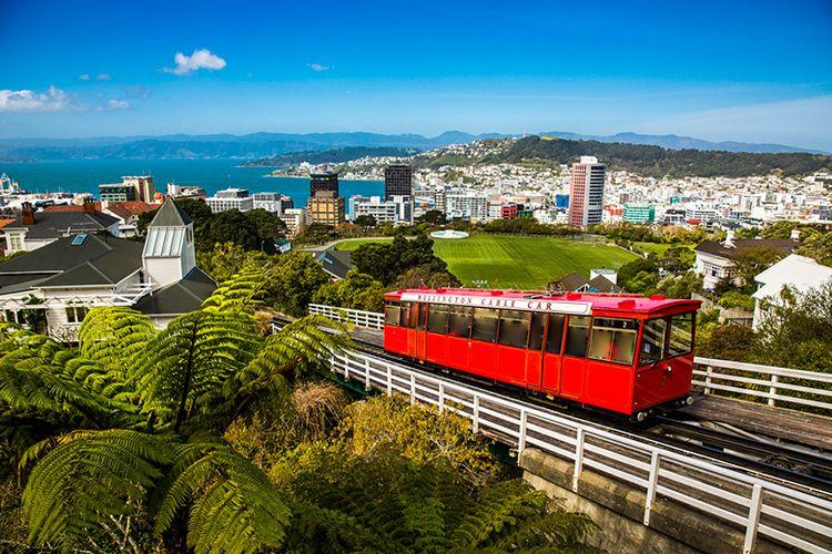 Kota Wellington di Selandia Baru.