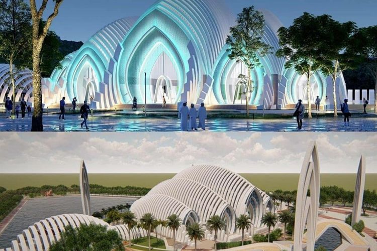 Desain Masjid Akbar Seribu Bulan yang dirancang Gubernur Jawa Barat Ridwan Kamil.
