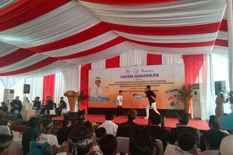 Dedi Mulyadi saat Safari Gemarikan di Kawasan Tajug Gede Cilodong, Purwakarta, Rabu (12/2/2020).