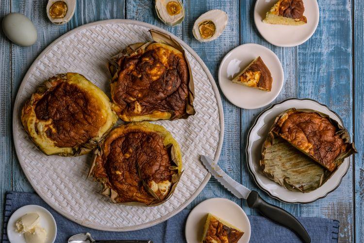 Bibingka de Filipinas, un ejemplo de comida navideña.