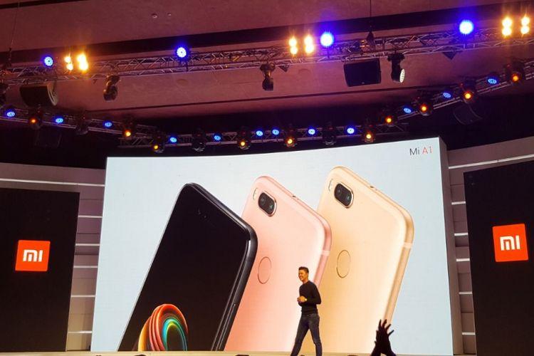 Xiaomi Mi A1 saat diluncurkan di India, Selasa (5/9/2017).