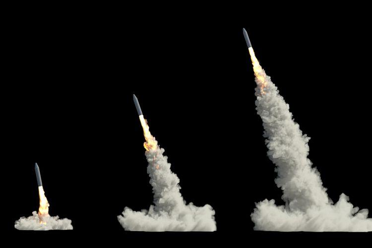 Ilustrasi roket.