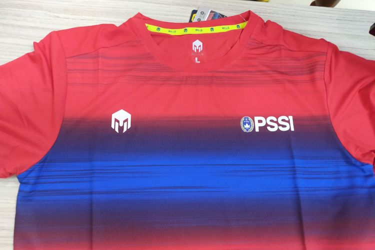 Penampakan pertama jersey latihan Timnas Indonesia dengan apparel lokal, MILLS Sports.