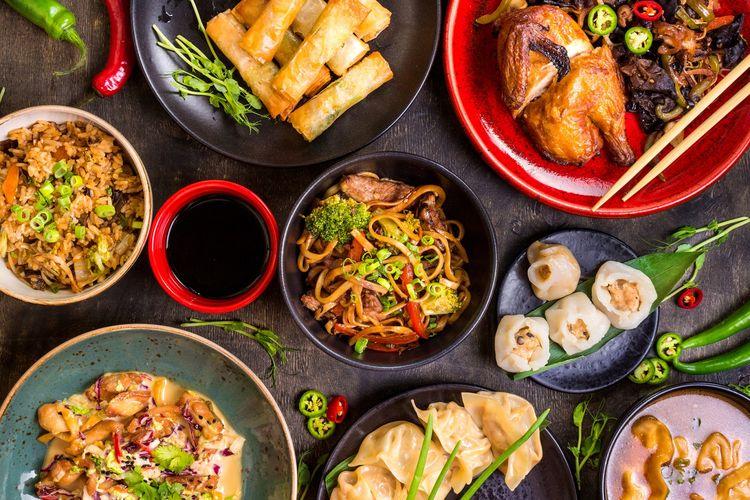 Ilustrasi Chinese Foods.