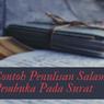 Contoh Penulisan Salam Pembuka Pada Surat