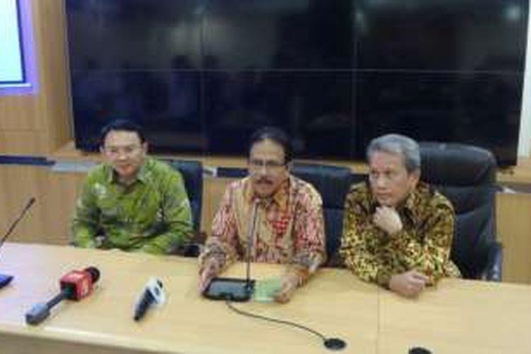 Menteri Agraria dan Tata Ruang Sofyan Djalil dan Gubernur DKI Jakarta Basuki Tjahaja Purnama.