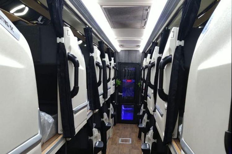Kabin bus AKAP PO Sinar Jaya