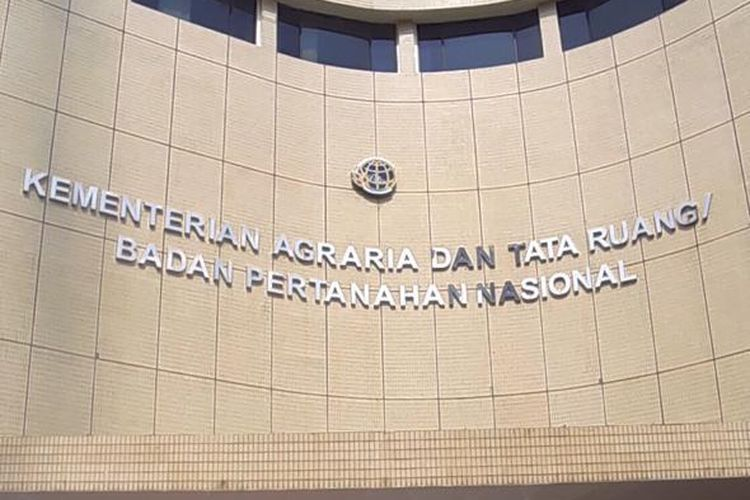 Kantor Gugus Tugas Reforma Agraria (GTRA) Kementerian Agraria Tata Ruang/Badan Pertanahan Nasional (ATR/BPN) di Jalan Sabang, Jakarta Pusat.