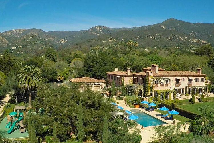 Rumah baru Pangeran Harry dan Meghan Markle di Santa Barbara, Negara Bagian California, Amerika Serikat.