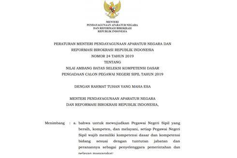 Passing Grade CPNS 2019 Lebih Rendah, Berapa Rincian Nilainya?