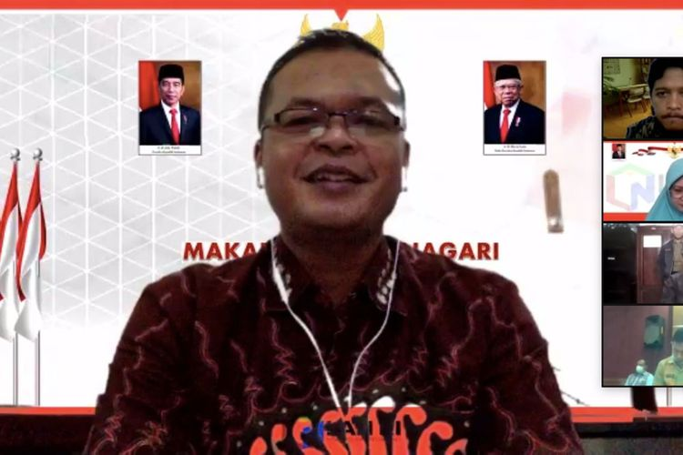 Kepala LAN Adi Suryanto saat membuka Laboratorium Inovasi secara resmi di Kabupaten Manggarai via konferensi video