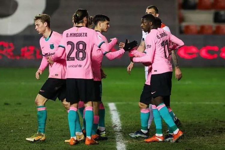 Barcelona bertandang ke markas Rayo Vallecano pada ajang Copa del Rey, Kamis (28/1/2021) dini hari WIB.