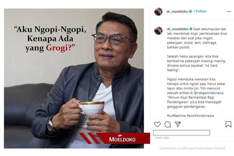 Memaknai Unggahan Ngopi Moeldoko, Sindirian untuk Demokrat?