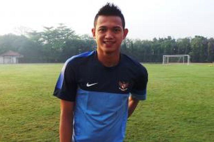 Penyerang Tim Nasional Indonesia U-19, Muchlis Hadi Ning.