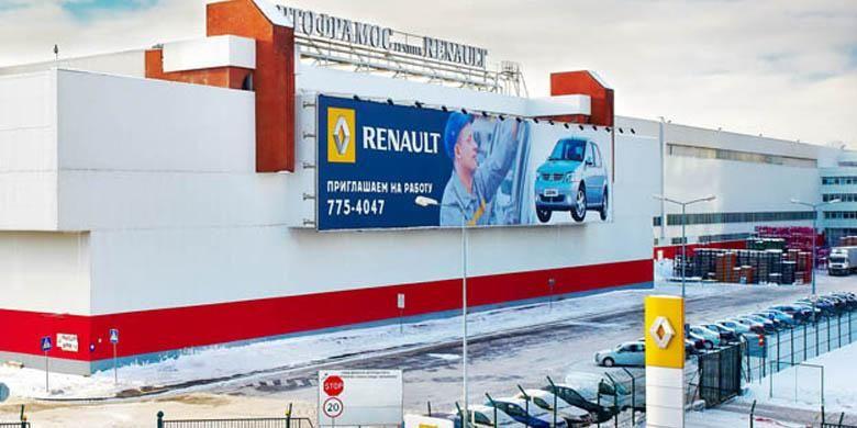 Salah satu pabrik Renault di Russia.