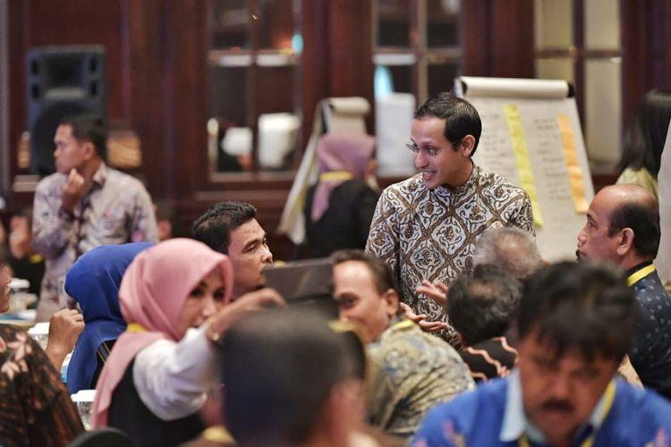 Mendikbud Nadiem Makarim dalam acara Rapat Koordinasi Bersama Dinas Pendidikan Provinsi dan Kabupaten/Kota di Jakarta (11/12/2019).