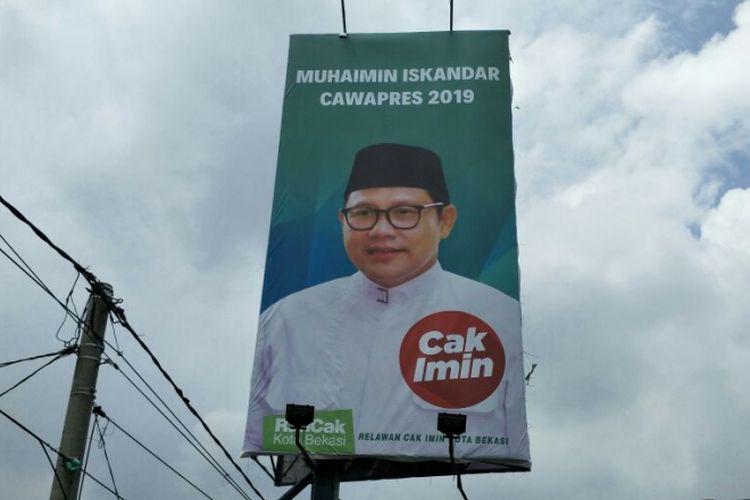 Reklame Muhaimin Iskandar Cawapres 2019 di Jl. Cut Mutia, Kota Bekasi.