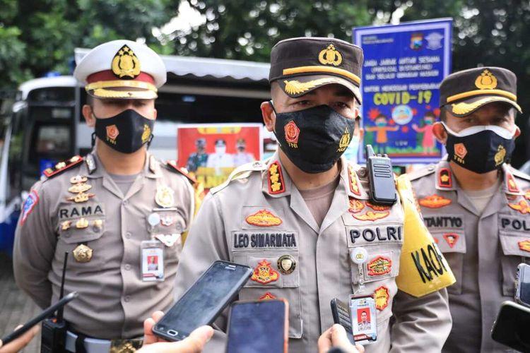 Kapolresta Malang Kota, Kombes Pol Leonardus Simarmata saat diwawancara beberapa waktu lalu.