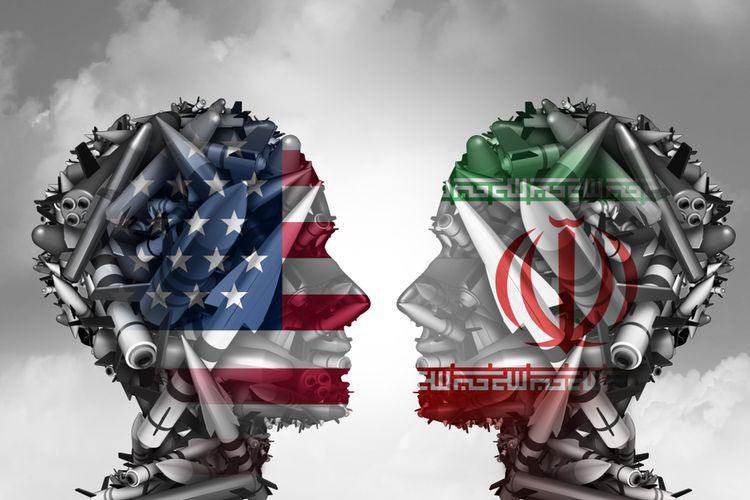 Ilustrasi hubungan Iran-AS