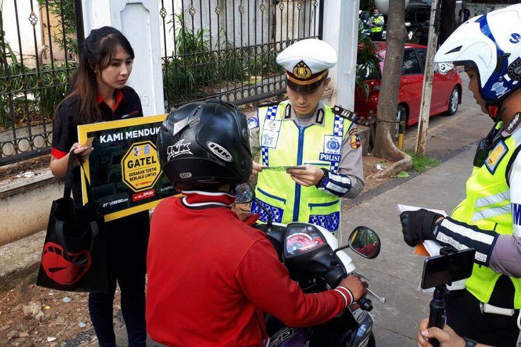 Kampanye Gatel, didukung NTMC dan YAHM, sasar pemotor yang menyalah gunakan trotoar