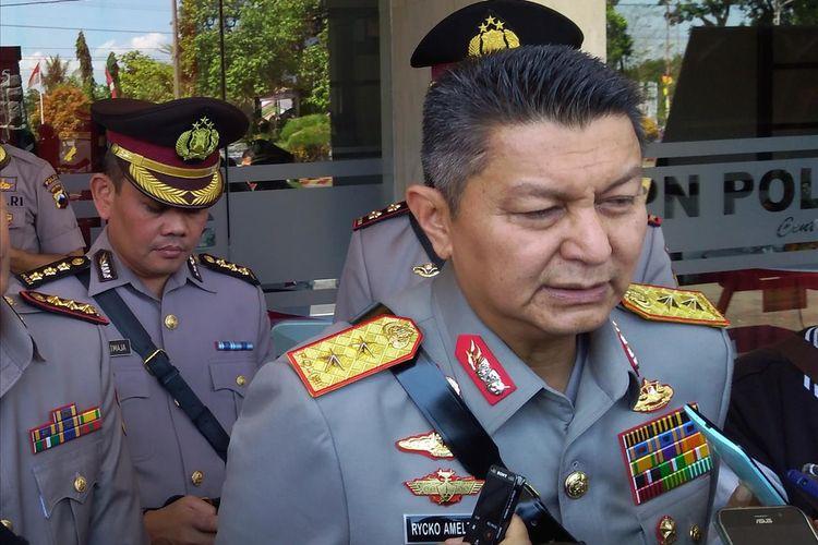 Kapolda Jateng Irjen Pol Rycko Amelza Dahniel seusai menjadi inspektur upacara Pembukaan Pendidikan Pembentukan Bintara Polri di SPN Purwokerto, Jawa Tengah, Selasa (6/8/2019).