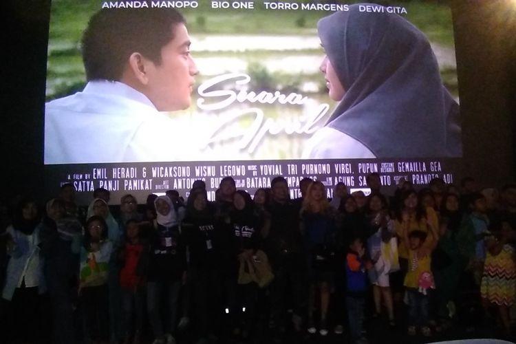 KPU Jabar menggelar nonton bareng film Suara April di Bandung, (14/4/2019).