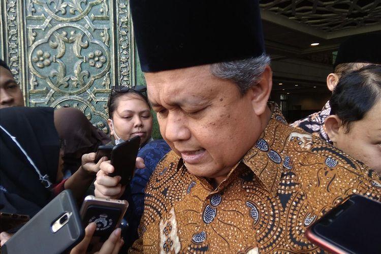 Paparan Gubernur Bank Indonesia Perry Warjiyo di Kompleks Masjid BI Jakarta, Jumat (24/5/2019)