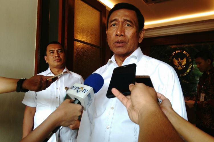 Menteri Koordinator Bidang Politik, Hukum dan Keamanan RI Wiranto, Selasa (29/8/2017)