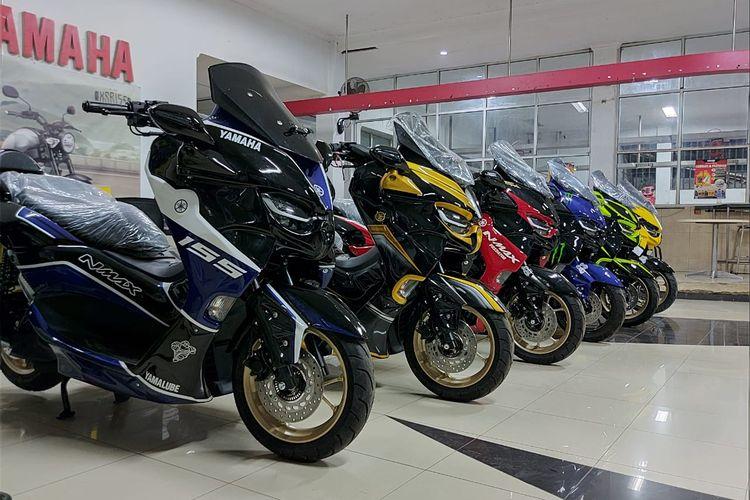 Variasi Yamaha NMax dengan body kit bertema predator di diler Yamaha PT STSJ.