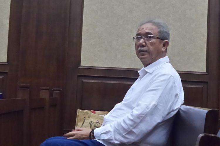 Mantan Direktur Utama PT Duta Graha Indah, Dudung Purwadi di Pengadilan Tipikor Jakarta, Rabu (8/11/2017).
