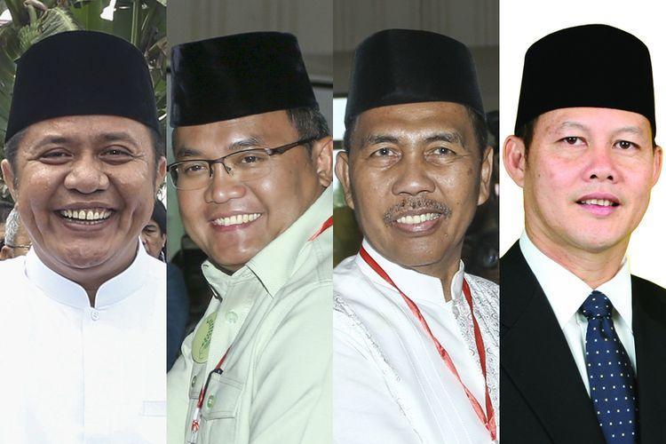 (Ki-ka) Herman Deru, Dodi Reza Alex Noerdin, Ishak Mekki, dan Saifudin Aswari Rivai