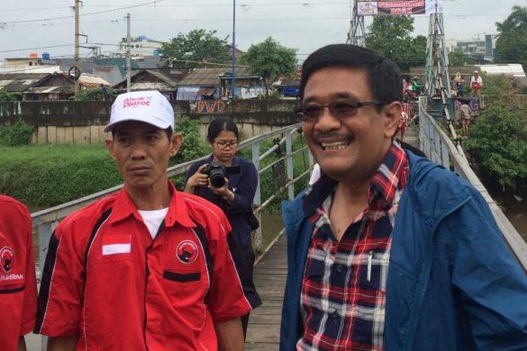 Calon wakil gubernur DKI Jakarta, Djarot Saiful Hidayat, sempat