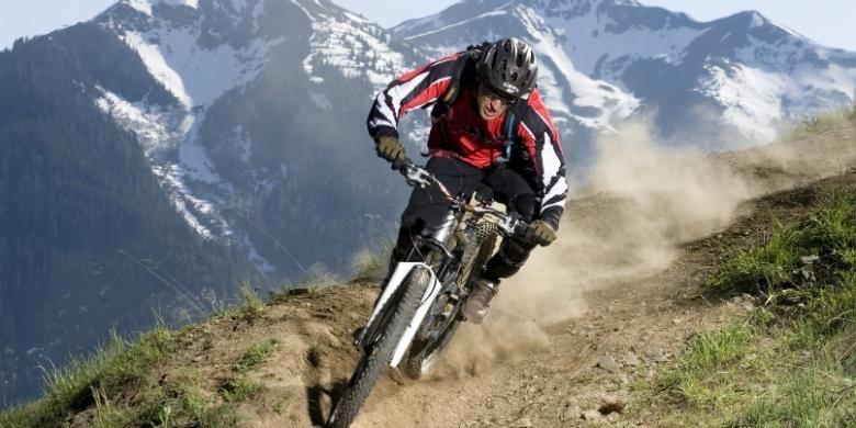 Ilustrasi sepeda gunung.