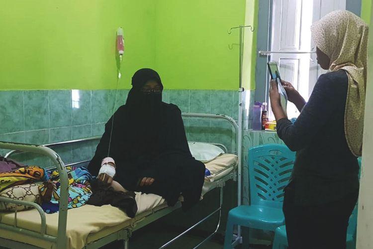AF Siswi Pondok Pesantren di Kecamatan Plaosan Kabupaten Magetan terduga ibu dari bayi laki laki yang ditemukan meninggal dunia di dalam ember sedang menjalani perawatan.