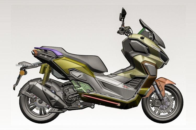 Gambar 3D dari Honda ADV 350