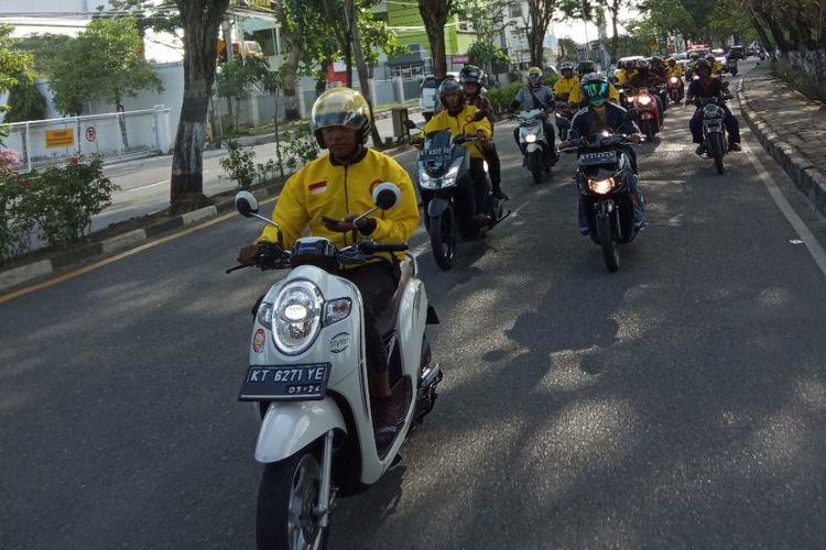 Para driver Maxim di Balikpapan, Kalimantan Timur.
