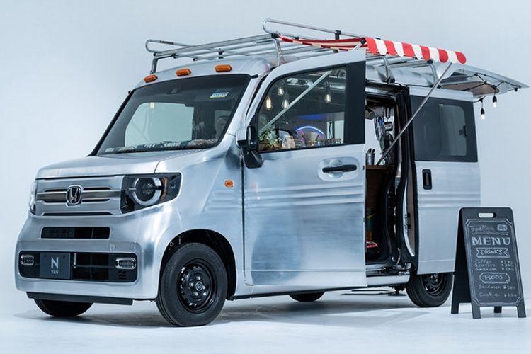 Modifikasi Honda N-Van Kedai Kopi di Tokyo Auto Salon 2021