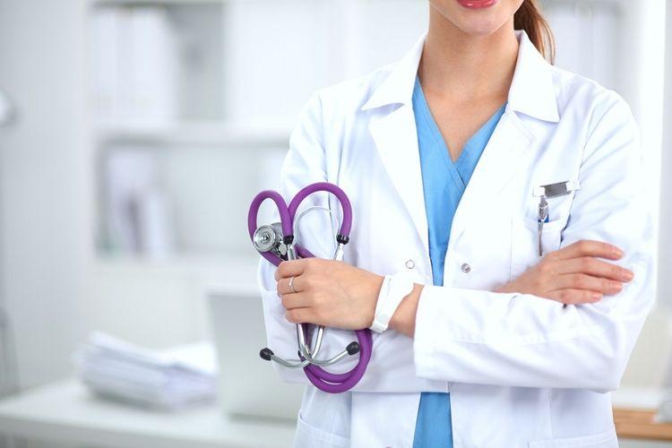 Ilustrasi dokter perempuan.
