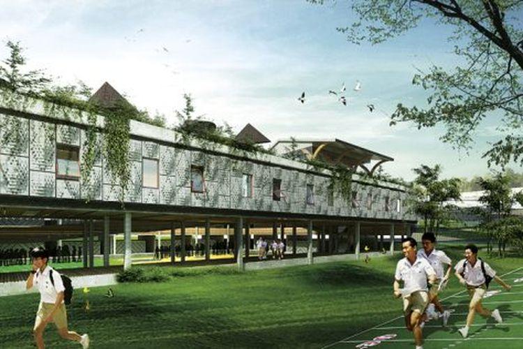 Sekolah di Ruteng, karya Faso Architects Studio