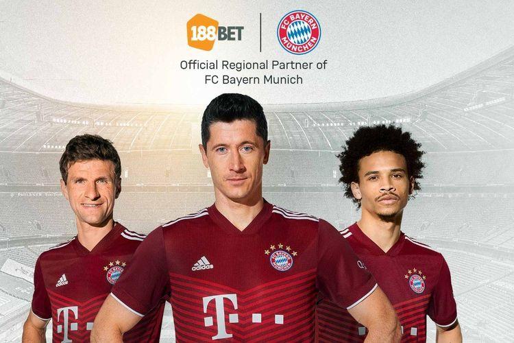Bayern Muenchen menggandeng kemitraan dengan 188BET untuk fans olahraga Asia hingga tiga musim ke depan mulai 2021-2022.