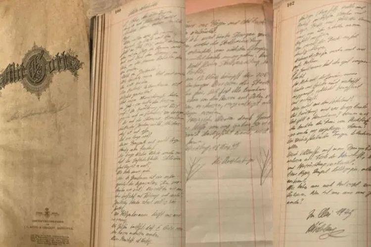 Buku harian yang diserahkan oleh keturunan Quedlinburg sebagai ungkapan penyesalan kepada Polandia atas tindakan leluhur mereka. [Via The Sun]